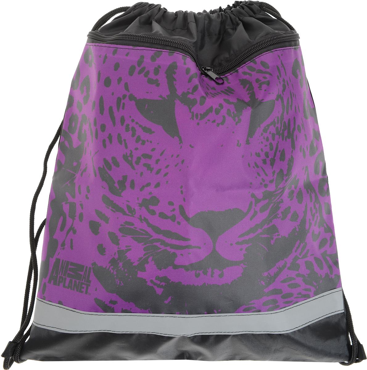 Action! Мешок для сменной обуви Animal Planet цвет черный фиолетовый