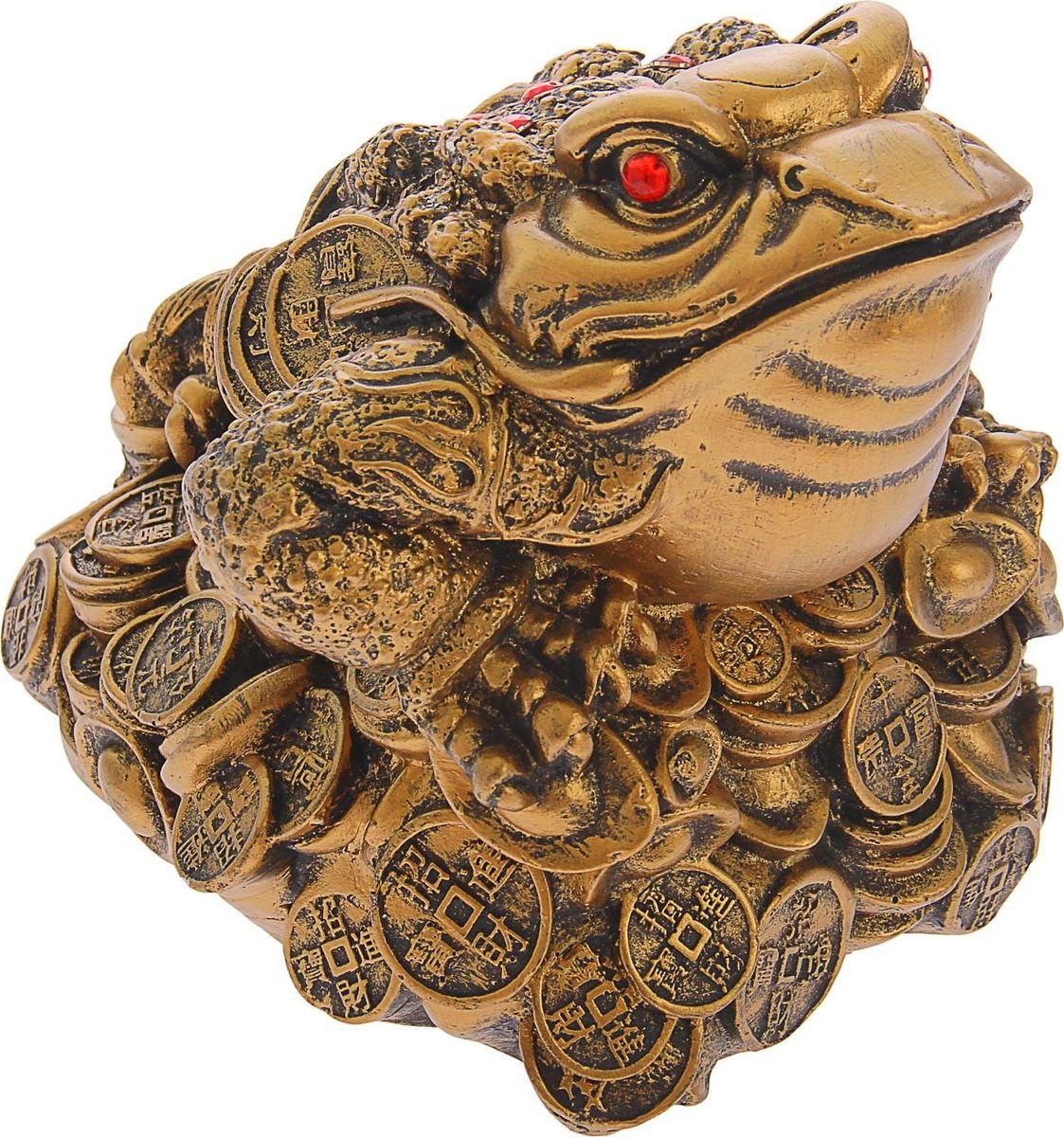 Копилка Premium Gips Жаба на монетах, 19 х 17 х 17 см копилка premium gips денежная жаба 17 см х 19 см х 17 см