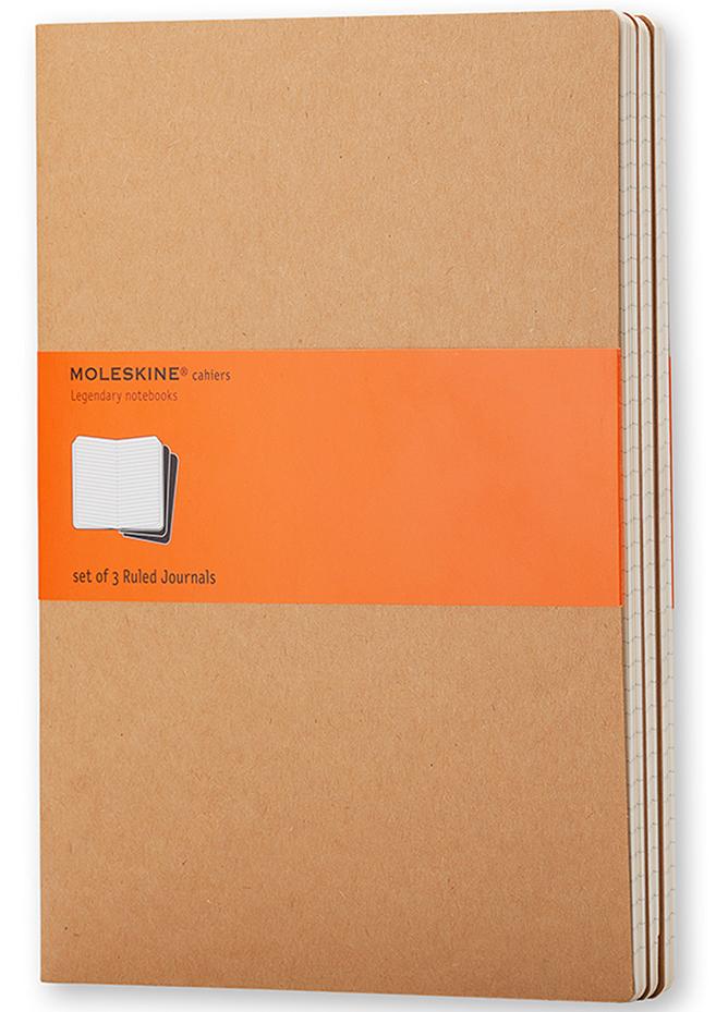 Moleskine Набор записных книжек Cahier Large 40 листов в линейку цвет бежевый 3 шт
