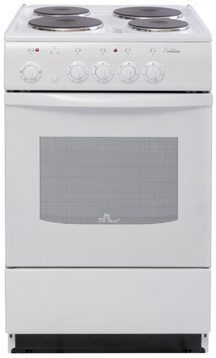 Плита De luxe 5004.12э, White, электрическая
