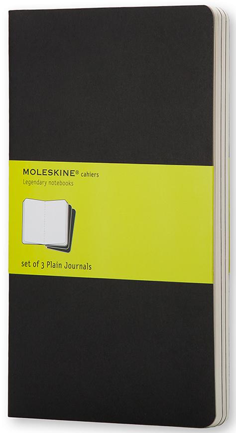 Moleskine Набор записных книжек Cahier Pocket 32 листа без разметки цвет черный 3 шт