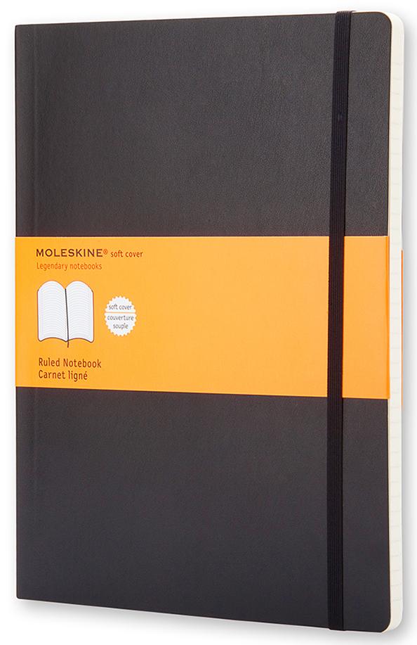 Moleskine Записная книжка Classic Soft Хlarge 96 листов в линейку цвет черный
