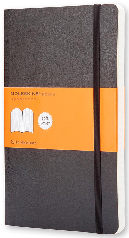 Moleskine Записная книжка Classic Soft Pocket 96 листов в линейку цвет черный