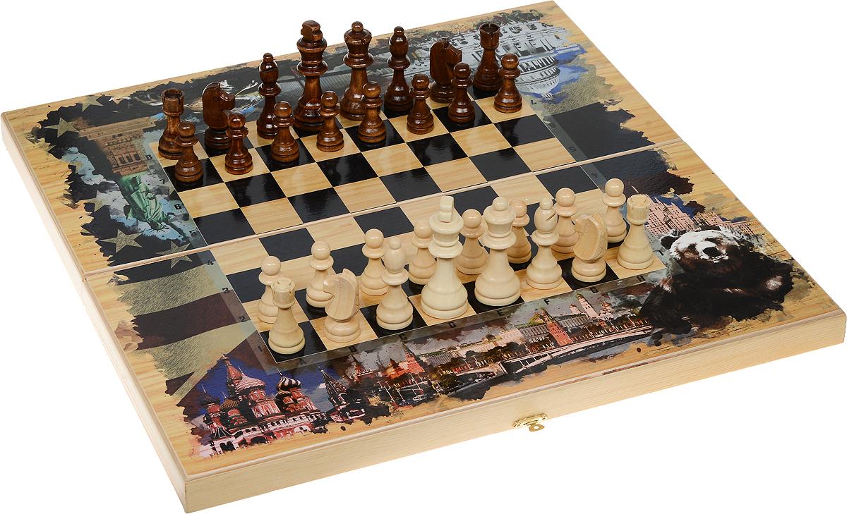Набор игровой Саванна Россия и Америка. 3 в 1, 50 х 50 см. sh-024sh-024Игровой набор большой 3в1 Россия и Америка: шахматы, шашки, нарды, размер: 50х50 см. sh-024 В комплект входят шахматные фигуры, фишки для нард и шашек, зарики 2шт. Материал: дерево: береза, хвойные сортаМатериал: Дерево: береза, хвойные сорта