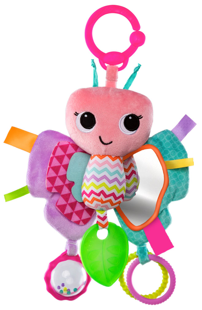 Bright Starts Развивающая игрушка Бабочка игрушка прорезыватель bright starts гусеничка оранжевая