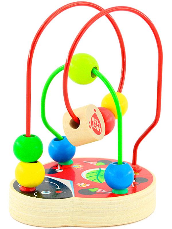 Игрушки из дерева Лабиринт Божья коровка игрушки из дерева лабиринт божья коровка