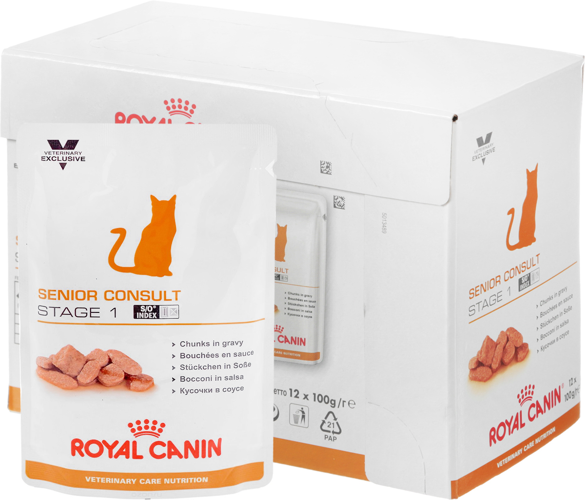 Консервы Royal Canin Senior Consult Stage 1 для кошек старше 7 лет, 100 г, 12 шт консервы royal canin senior consult stage 1 для кошек старше 7 лет 100 г 12 шт