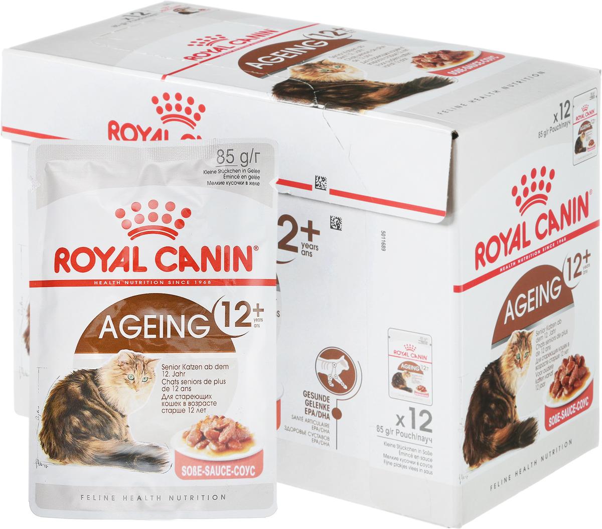 Консервы Royal Canin Ageing +12, для кошек старше 12 лет, 85 г, 12 шт консервы royal canin senior consult stage 1 для кошек старше 7 лет 100 г 12 шт