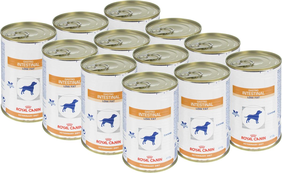 Консервы для собак Royal Canin Gastro Intestinal Low Fat, при нарушении пищеварения, c пониженным содержанием жира, 410 г, 12 шт консервы для собак royal canin gastro intestinal low fat при нарушении пищеварения c пониженным содержанием жира 410 г 12 шт