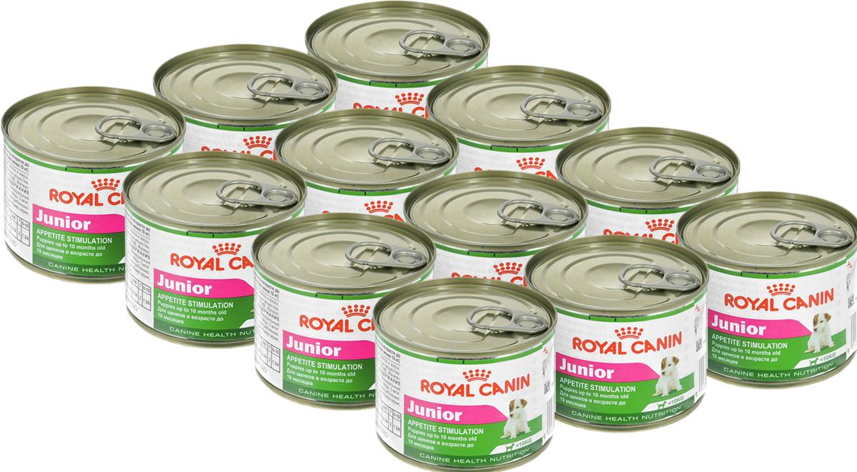 Консервы Royal Canin Junior, для щенков мелких пород, 195 г, 12 шт добавки для роста мышц