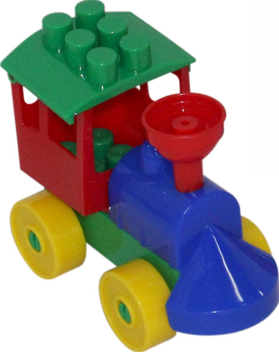 Фото - Полесье Конструктор Юный путешественник Паровоз, цвет в ассортименте полесье набор игрушек для песочницы 468 цвет в ассортименте