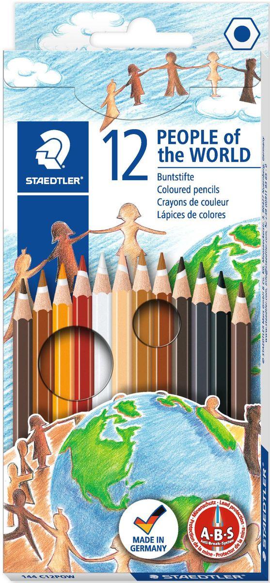 цена на Staedtler Набор цветных карандашей Noris Club 144 С Народы мира 12 цветов