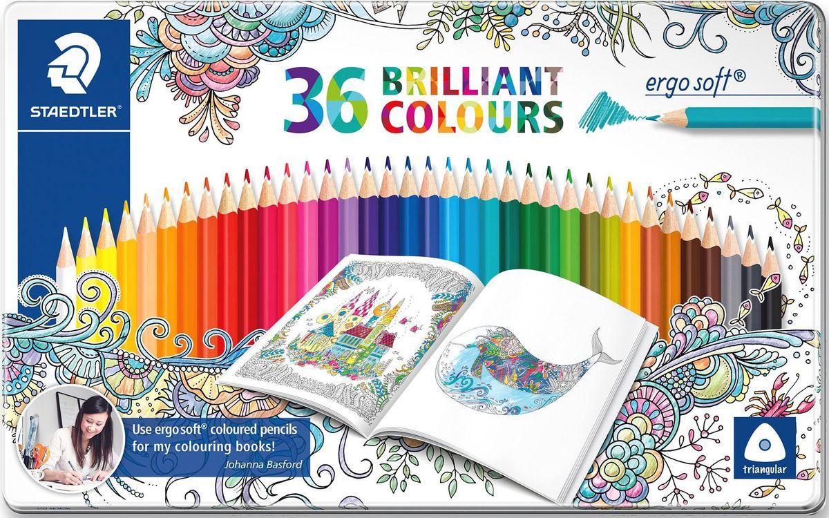 Staedtler Набор цветных карандашей Ergosoft 157 Джоанна Бэсфорд 36 цветов бэсфорд дж мир цветов