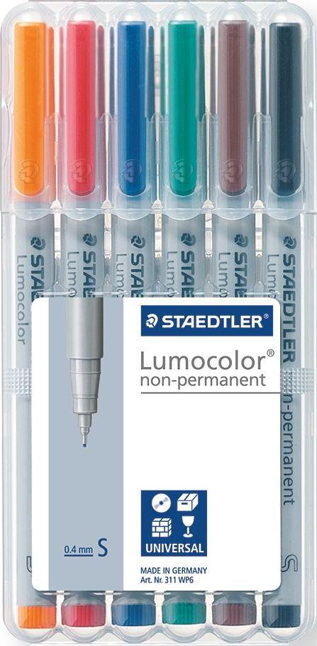 Staedtler Набор неперманентных маркеров Lumocolor 311 6 цветов