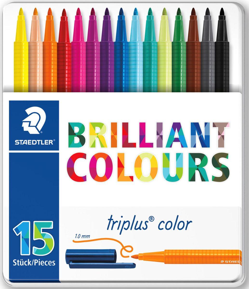 Staedtler Набор фломастеров Triplus 323 Яркие цвета 15 цветов