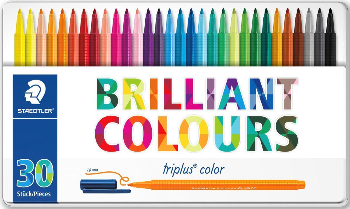 Staedtler Набор фломастеров Triplus 323 Яркие цвета 30 цветов