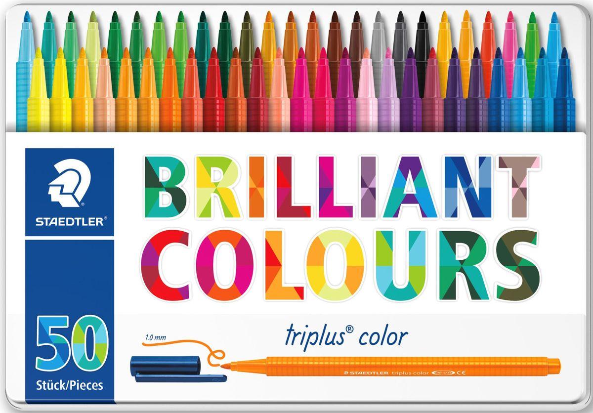 Staedtler Набор фломастеров Triplus 323 Яркие цвета 50 цветов