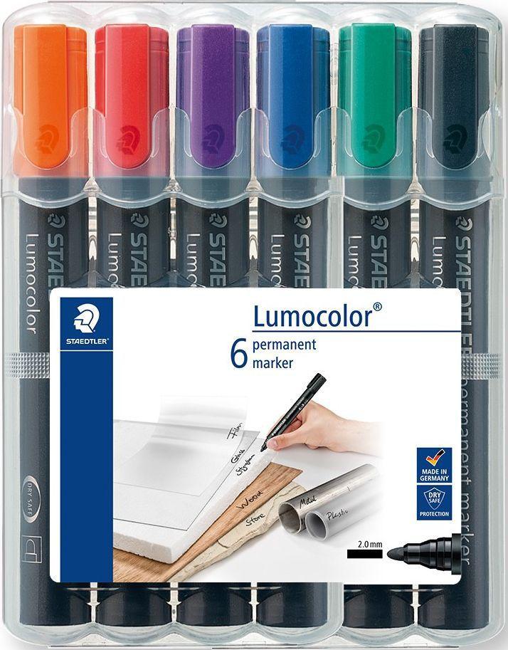 Staedtler Набор перманентных маркеров Lumocolor 352 6 шт