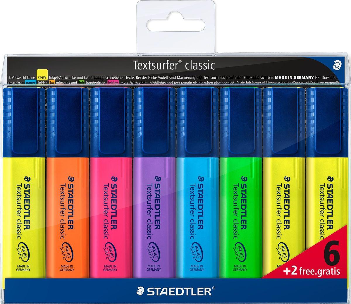 Staedtler Набор текстовыделителей Сlassic 364 6 шт + 2 шт бесплатно