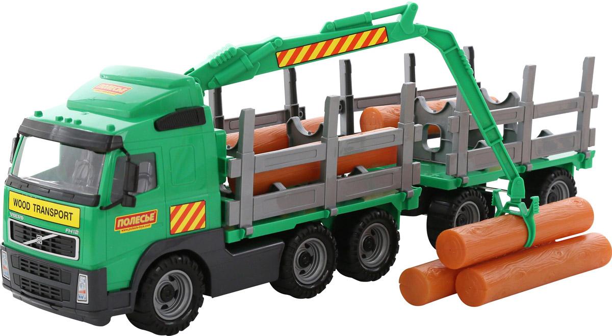 Полесье Лесовоз с прицепом Volvo, цвет в ассортименте лесовоз с прицепом полесье volvo