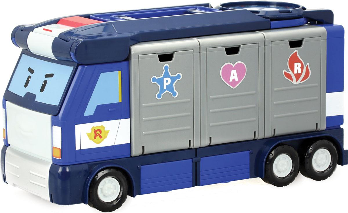 Robocar Poli Игровой набор Передвижная штаб-квартира robocar poli игровой набор перерабатывающая станция с фигуркой