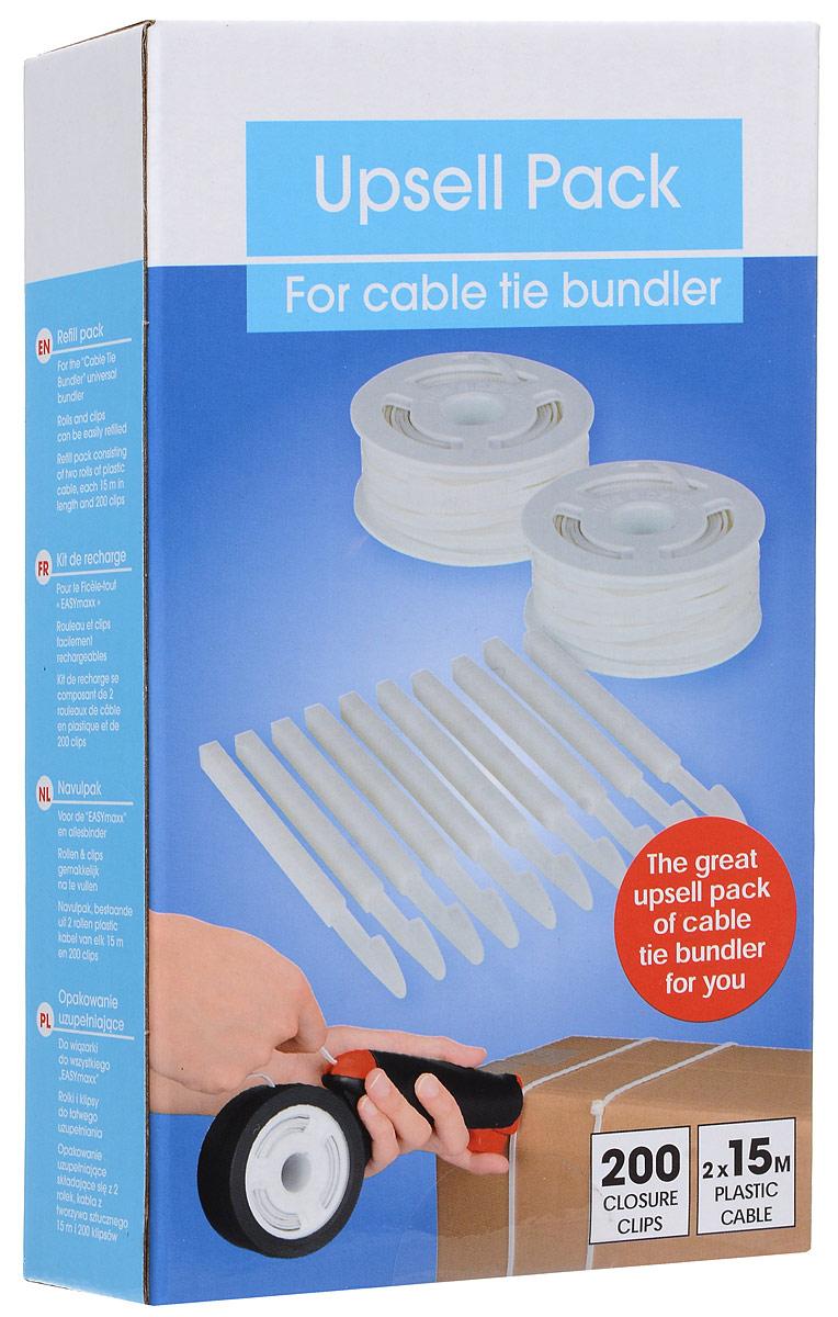 Набор для универсального клиппера Cable Tie Bundler  2 катушки с кабелем 200 клипс