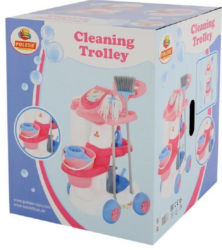 Полесье Игровой набор Помощница 4 58881, цвет в ассортименте écoiffier игровой набор ecoiffier clean home тележка для уборки с пылесосом 10 предметов