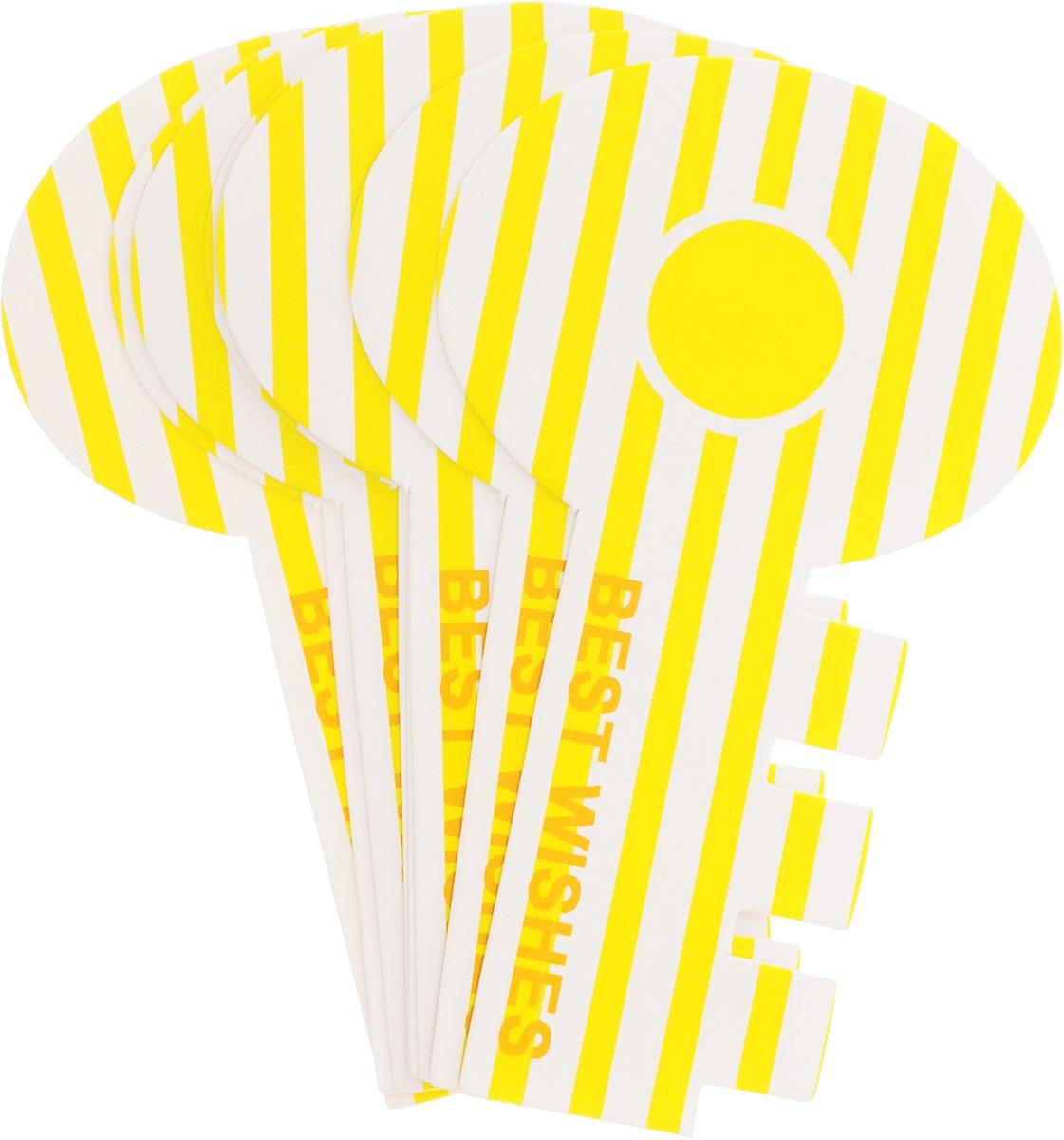 Карамба Закладки Ключ цвет желтый 8 шт4028_прямая линия, желтыйНабор Карамба Ключ включает 8 бумажных закладок, выполненных в виде ключа. Оригинальные закладки позволят выделить нужную страницу.