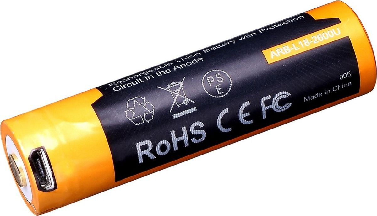 Аккумулятор Li-ion Fenix ARB-L18-2600U 18650 аккумулятор fenix arb l18 2600