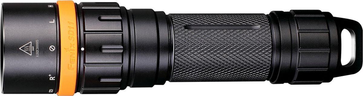 Фонарь для дайвинга Fenix SD11, цвет: черный фонарь fenix sd11 cree xm l2 u2