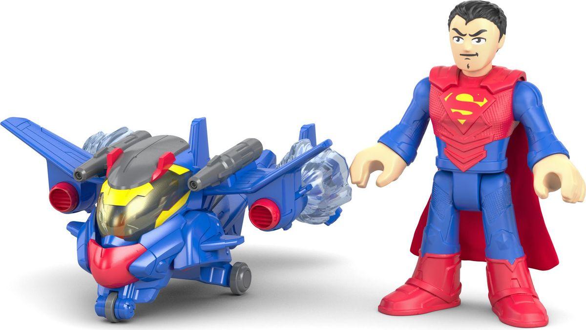 Imaginext Фигурка DC Super Friends Боевые трансформеры Superman imaginext игровой набор dc super friends feature villain