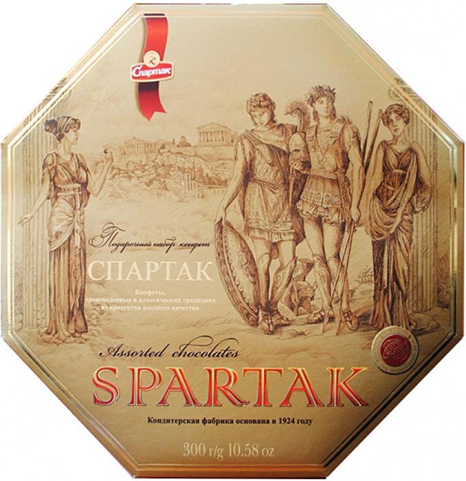 Спартак набор шоколадных конфет, 300 г шоколеди тайна искушения конфеты шоколадные 195 г