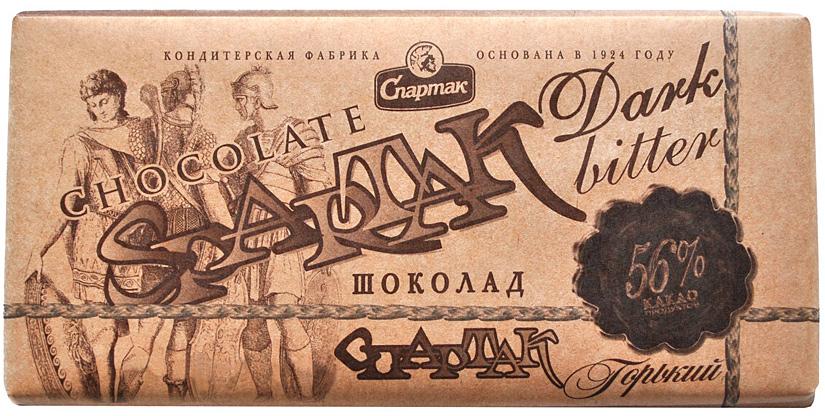 Спартак шоколад горький 56%, 90 г спартак шоколад горький 90% 500 г