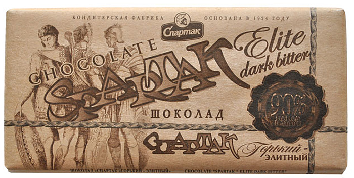 Спартак шоколад горький 90%, 90 г спартак шоколад молочный с арахисом 90 г
