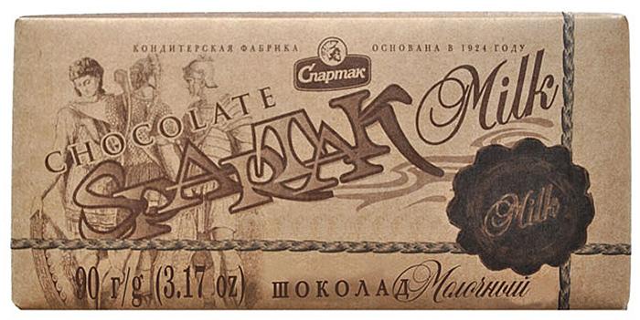 Спартак шоколад молочный, 90 г спартак шоколад молочный 500 г
