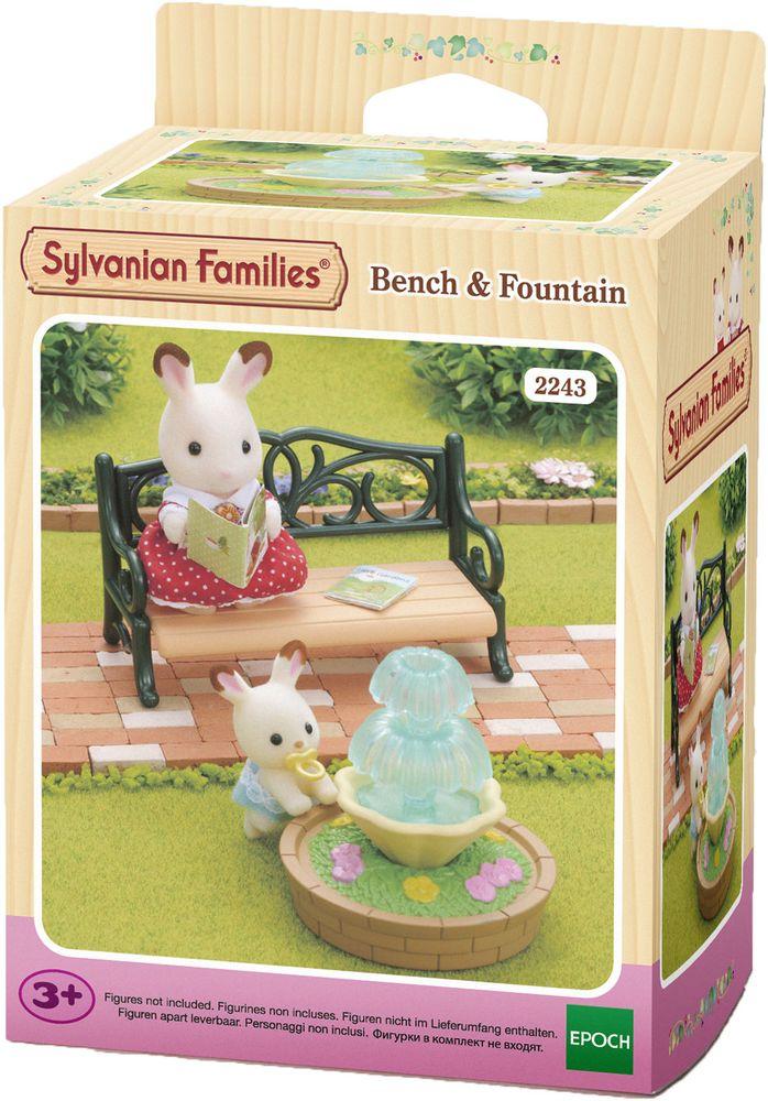 Sylvanian Families Игровой набор Фонтан и скамейка
