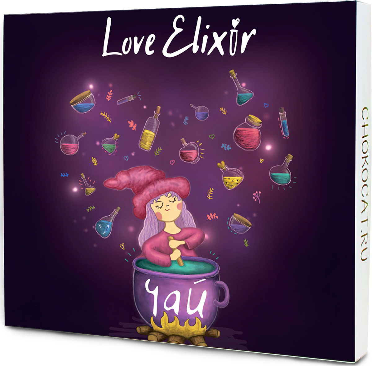 Chokocat Любовный эликсир подарочный набор 3 вида чая, 30 г dolche vita от всего сердца подарочный набор 3 вида чая 120 г