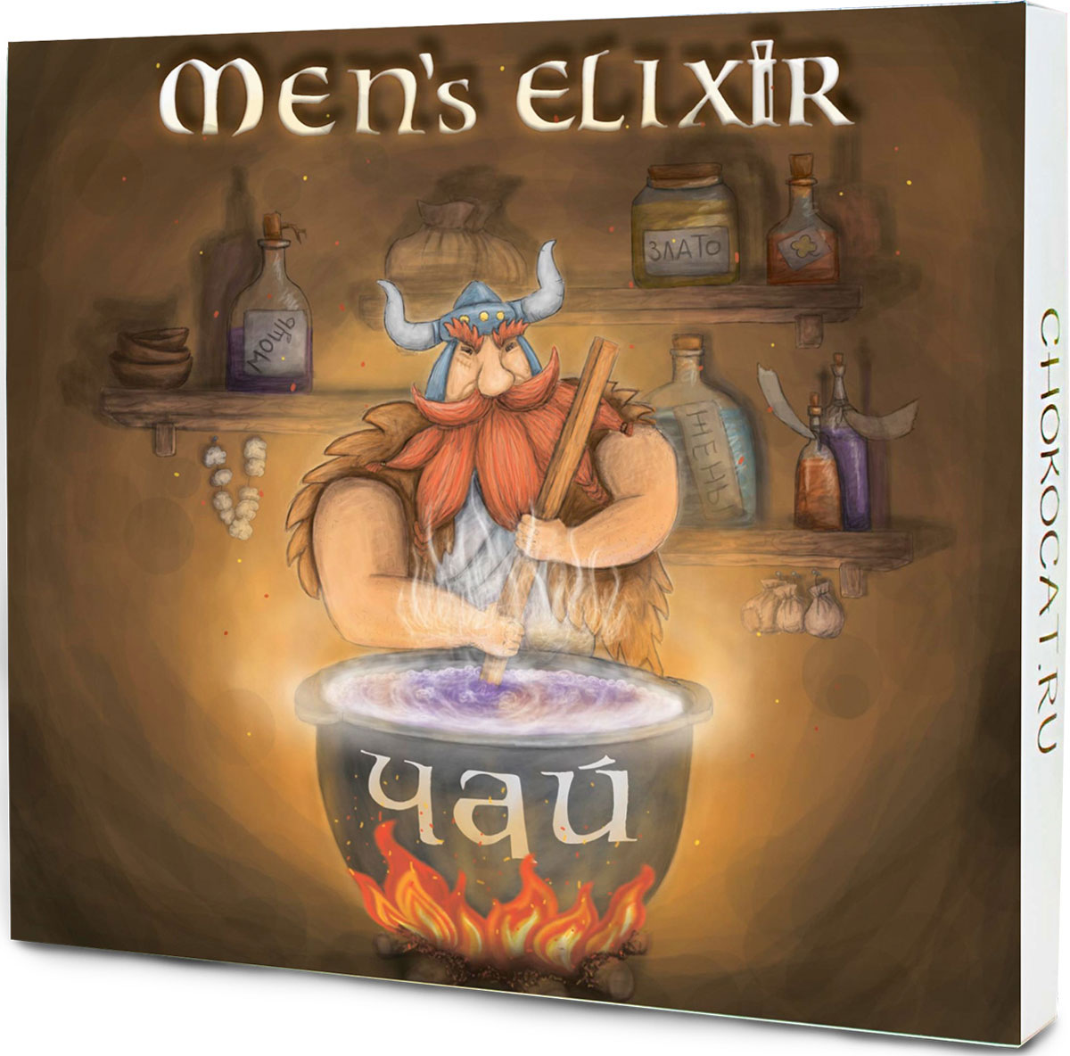 Chokocat Мужской эликсир подарочный набор 3 вида чая, 30 г dolche vita от всего сердца подарочный набор 3 вида чая 120 г