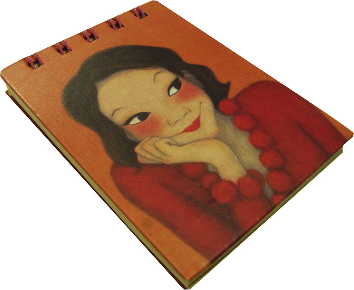 Карамба Блокнот Девочка в красном платье 80 листов в линейку