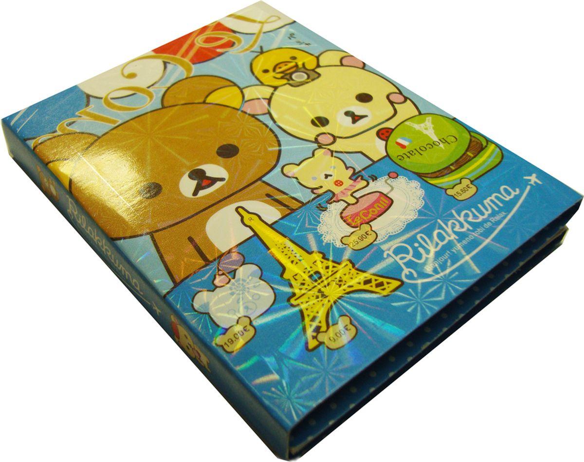 Карамба Набор стикеров Мишки раскладывающийся цвет синий 80 шт карамба закладки ключ цвет розовый 8 шт