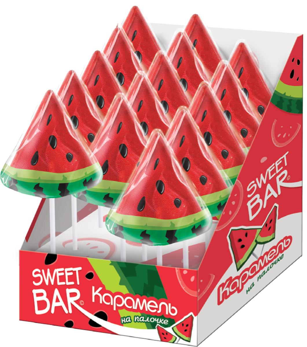 Конфитрейд Sweet Bar Арбузик карамель на палочке, 15 шт по 40 г цена