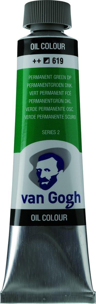 Royal Talens Краска масляная Van Gogh цвет 619 Зеленый насыщенный устойчивый 40 мл royal talens набор акварельных красок van gogh 12 цветов 20808631