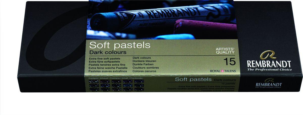 Royal Talens Набор пастели Rembrandt Стартовый 15 темных цветов мелки пастель 54 цвета