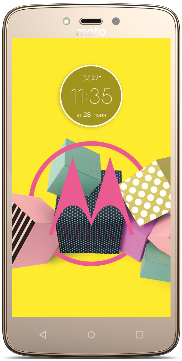 Смартфон Motorola Moto C Plus 1/16GB gold смартфон motorola moto c plus xt1723 starry black