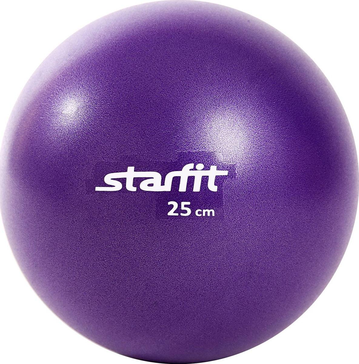 Мяч для пилатеса Starfit GB-901, цвет: фиолетовый, диаметр 25 см мяч для фитнеса starfit мяч для пилатеса фиолетовый