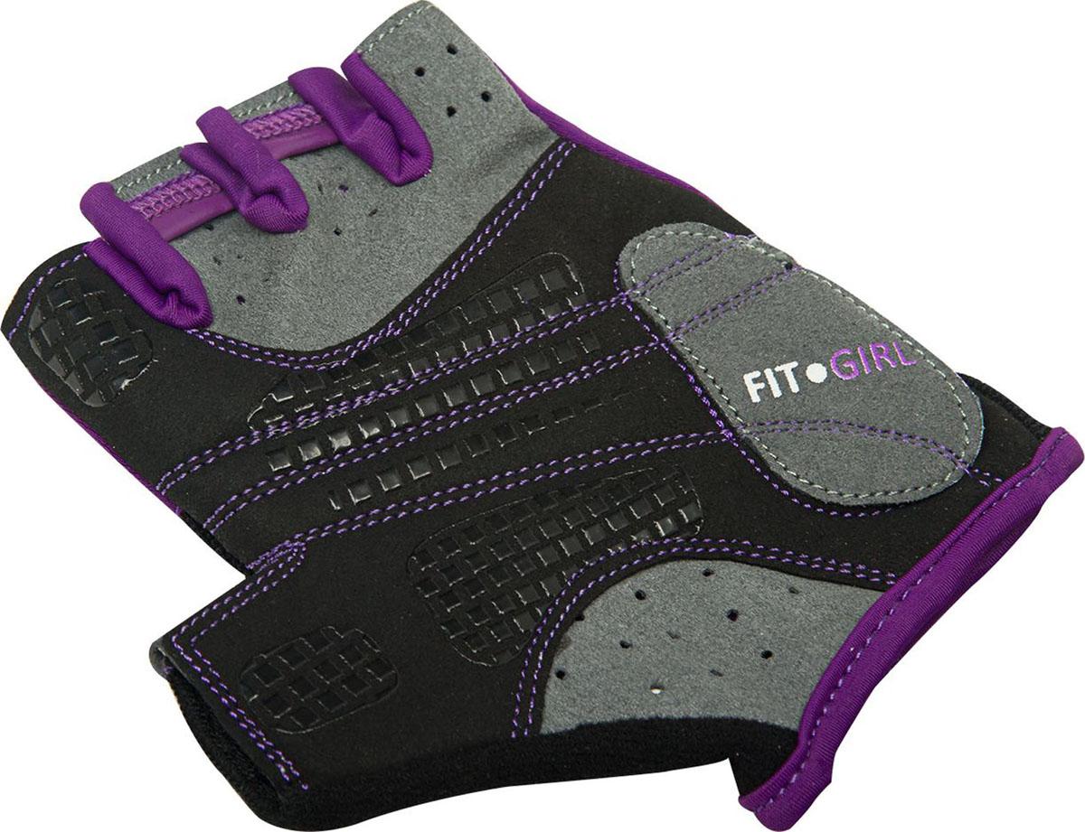 Перчатки для фитнеса Starfit, цвет: черный, фиолетовый, серый. SU-113. Размер XS фуфайка женская guahoo цвет синий фиолетовый g23 1601s nv vt размер xs s 42 44