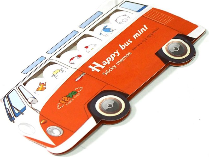 Карамба Набор стикеров Автобус цвет оранжевый 180 шт карамба закладки ключ цвет розовый 8 шт