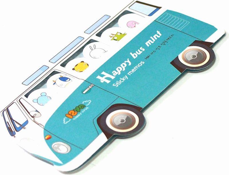 Карамба Набор стикеров Автобус цвет голубой 180 шт карамба закладки ключ цвет розовый 8 шт