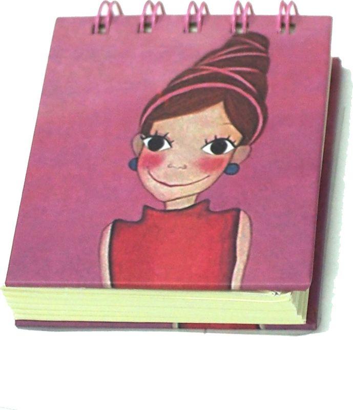 Карамба Блокнот Девочка с прической с лентами 80 листов в линейку