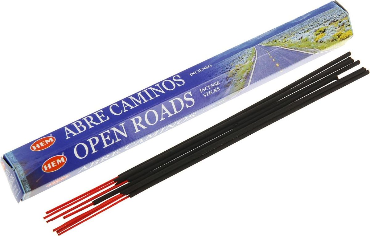 Благовония HEM Open Roads (Открытые дороги), 20 палочек rib knit lettuce hem open front bodysuit